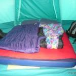 Zelt von innen (aufgeräumt!)